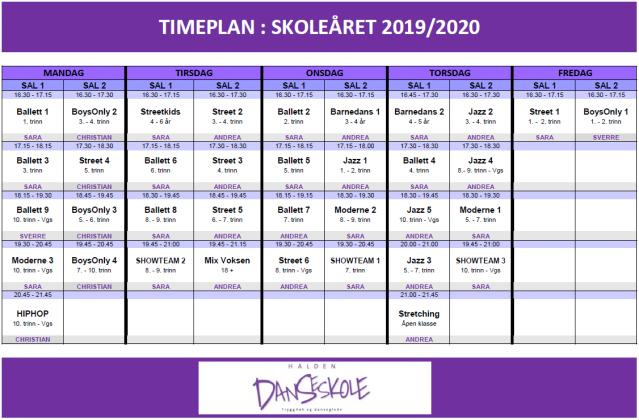 TIMEPLAN_HDS_HØST2019VÅR2020.