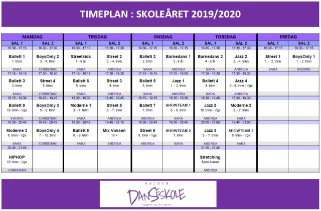 TIMEPLAN_VÅREN2020