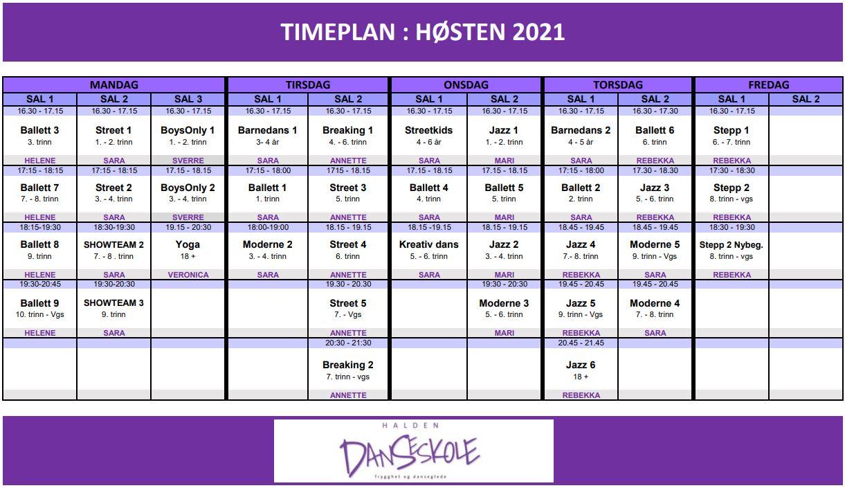 TIMEPLAN_HØSTEN2021 - NY